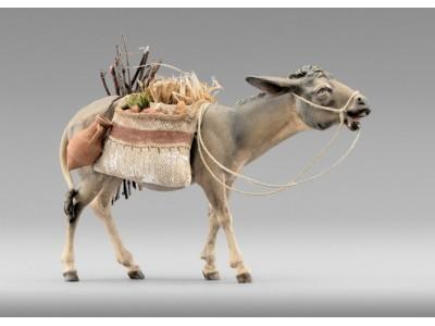 Rustika Esel gehend bepackt color
