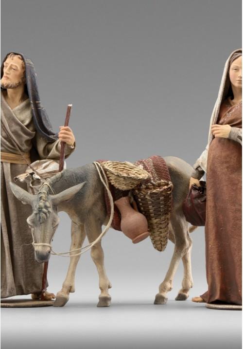 Immanuel Esel stehend links bepackt color