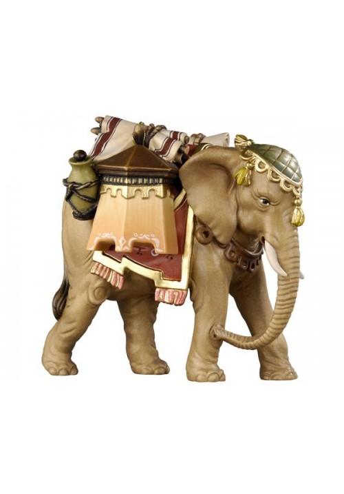Elefant mit Gepäck color, RA